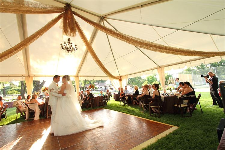 Tent dance floor rental