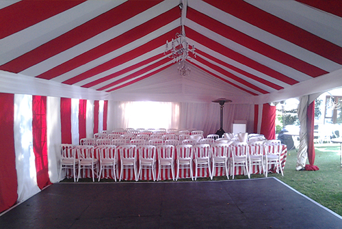Red Amp White Draping Domino S Tents